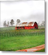 Rustic Wine Metal Print by Robert Smith