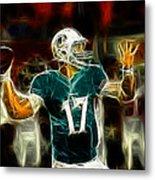 Ryan Tannehill - Miami Dolphin Quarterback Metal Print by Paul Ward