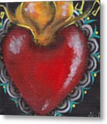 Sagrado Corazon 1 Metal Print by  Abril Andrade Griffith