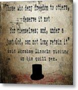 Said Abraham Lincoln Metal Print by Cinema Photography