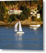 Sailboat In Vancouver Metal Print by Robert Meanor