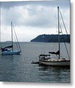 Sailboats In Bar Harbor Metal Print by Linda Sannuti