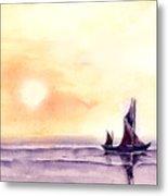 Sailing Metal Print by Anil Nene