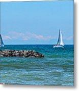 Sailing Days On Lake Erie Panorama Metal Print by Randy Steele