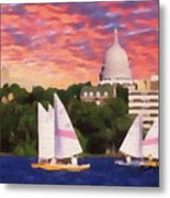 Sailing In Madison Metal Print by Anthony Caruso