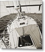 Sailing Sailboat Charleston Sc Bridge Metal Print by Dustin K Ryan