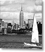 Sailing The New York Harbor Metal Print by John Rizzuto