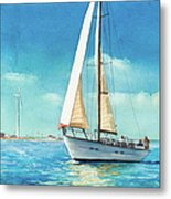 Sailing Through The Gut Metal Print by Laura Lee Zanghetti
