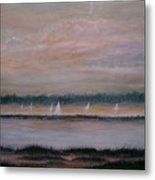 Sails In The Sunset Metal Print by Ben Kiger