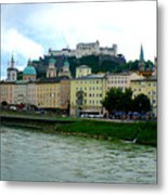 Salzburg Over The Danube Metal Print by Carol Groenen