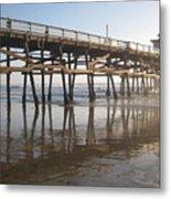 San Clemente Pier Metal Print by Lynn Watters