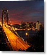 San Francisco Bay Bridge At Sunset Metal Print by Pierre Leclerc Photography