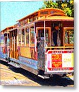 San Francisco Cablecar At Fishermans Wharf . 7d14097 Metal Print by Wingsdomain Art and Photography