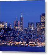 San Francisco Skyline At Dusk Metal Print by David Rout