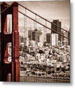 San Francisco Through The Bridge Metal Print by Matt  Trimble