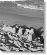 Sand Castles By The Shore Metal Print by Rob Hans
