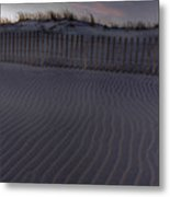 Sand Fence At Robert Moses Metal Print by Jim Dohms