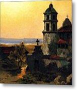 Santa Barbara Mission Metal Print by Pg Reproductions