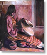 Santa Clara Potter Metal Print by Nancy Griswold