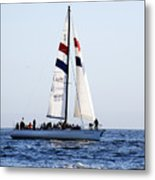 Santa Cruz Sailing Metal Print by Marilyn Hunt