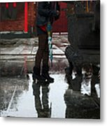 Scene From A Buddhist Temple Metal Print by Barbara  White