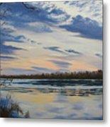 Scenic Overlook - Delaware River Metal Print by Lea Novak