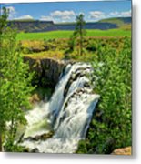 Scenic White River Falls Metal Print by Connie Cooper-Edwards