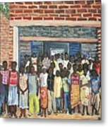 School Class Burkina Faso Series Metal Print by Reb Frost