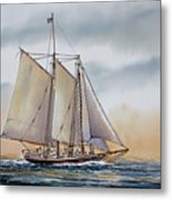 Schooner Stephen Taber Metal Print by James Williamson