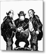 Scopes Trial Cartoon 1925 Metal Print by Granger