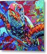 Sea Turtle Metal Print by Maria Arango