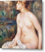 Seated Female Nude Metal Print by Renoir