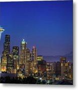 Seattle Skyline Metal Print by Sebastian Schlueter (sibbiblue)