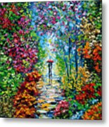 Secret Garden Oil Painting - B. Sasik Metal Print by Beata Sasik