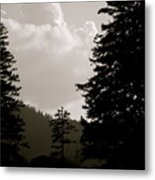 See The Mountain Through The Trees Metal Print by Kimberly Camacho