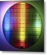 Semiconductor Wafer Metal Print by Pasieka
