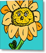 Senny The Sunflower Metal Print by Jera Sky