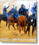 Seventh Cavalry In Action Metal Print by David Lee Thompson