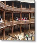 Shakespeare's Globe Theater C378 Metal Print by Charles  Ridgway