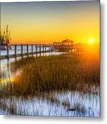 Shem Creek Sunset - Charleston Sc  Metal Print by Drew Castelhano