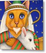 Shepherd Cat Metal Print by Carol Wilson
