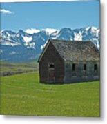 Shields Valley Abandoned Farm Ranch House Metal Print by Bruce Gourley
