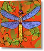 Shining Dragonfly Metal Print by Mary Ogle
