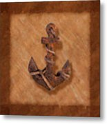 Ship's Anchor Metal Print by Tom Mc Nemar