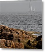 Ships Harbor In Maine Metal Print by James Dricker