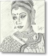 Shobana Chandrakumar-bharatanatyam Dancer Metal Print by Priya Paul