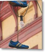 Shoes Hanging Metal Print by Jeff White