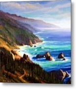Shore Trail Metal Print by Frank Wilson