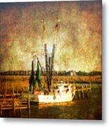 Shrimp Boat In Charleston Metal Print by Susanne Van Hulst