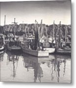 Shrimp Boats Mosquito Fleet Metal Print by Fred Jinkins